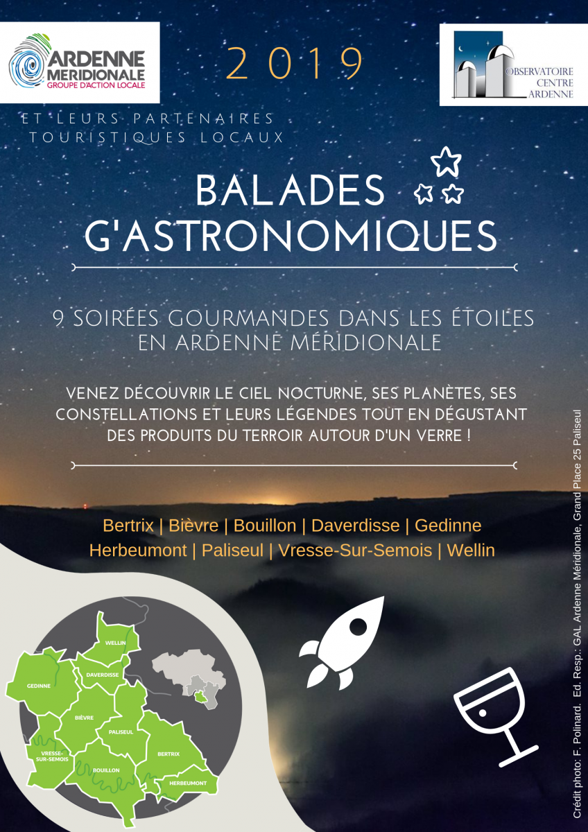 Flyer Balade G'Astronomique Ardenne Meridionale