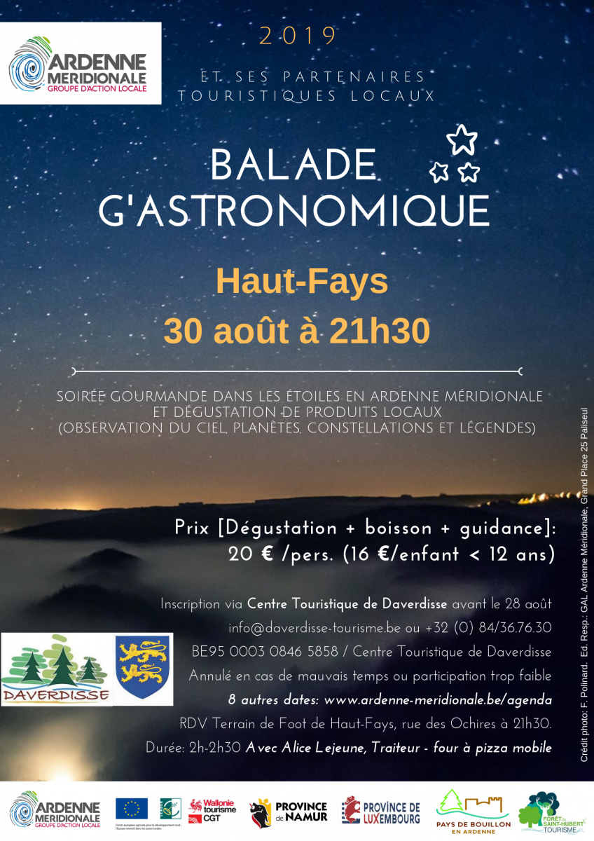 Haut Fays GAL Ardenne Meridionale Balade G'Astronomique