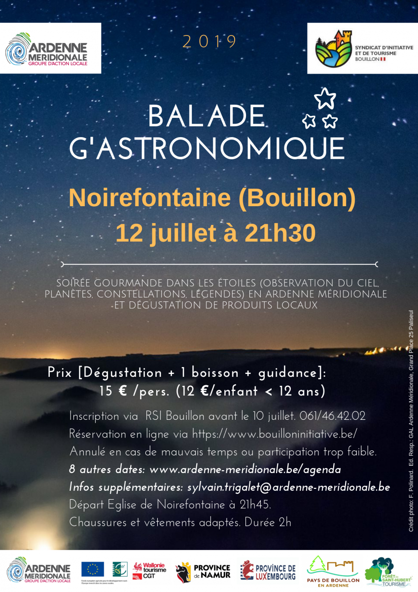 Noirefontaine GAL Ardenne Meridionale Balade G'astronomique