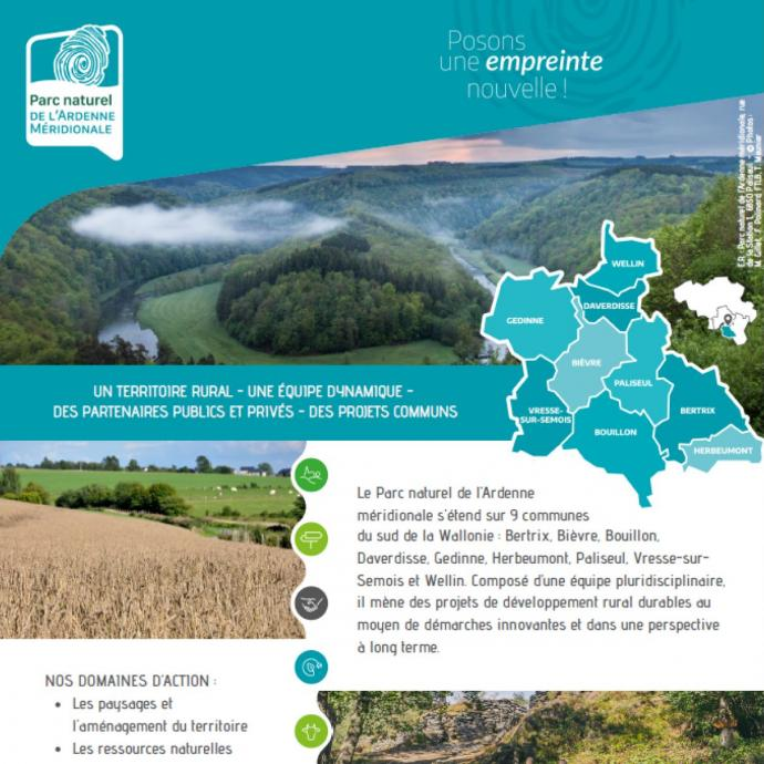 Flyer du Parc naturel - Flyer de présentation du Parc naturel de l'Ardenne méridionale - Publications Parc Naturel Ardenne Meridionale